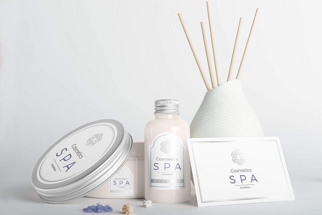 spa cosmetics mockup v